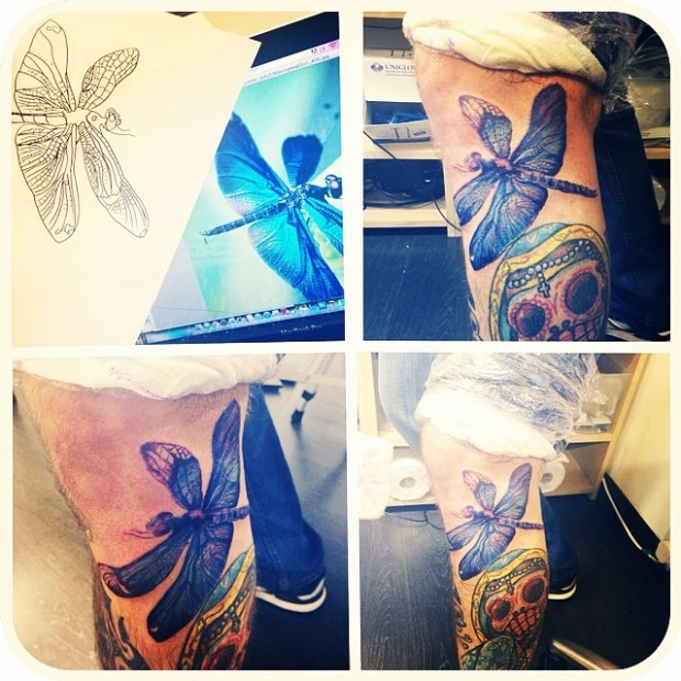 i love dragonflies and i love tattoos! what a wonderful day ;)